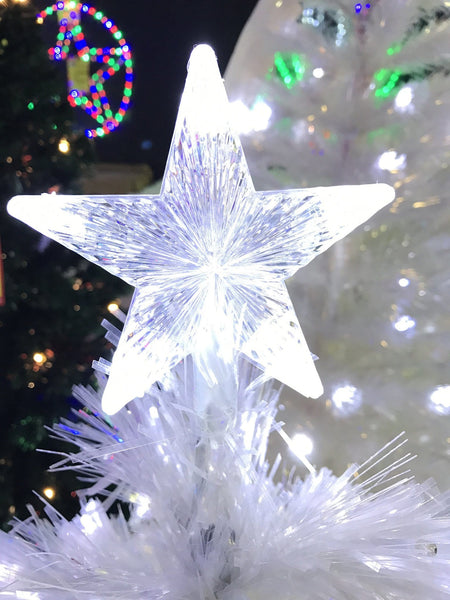 1.5M White FIBREOPTIC Christmas Tree - Christmas World