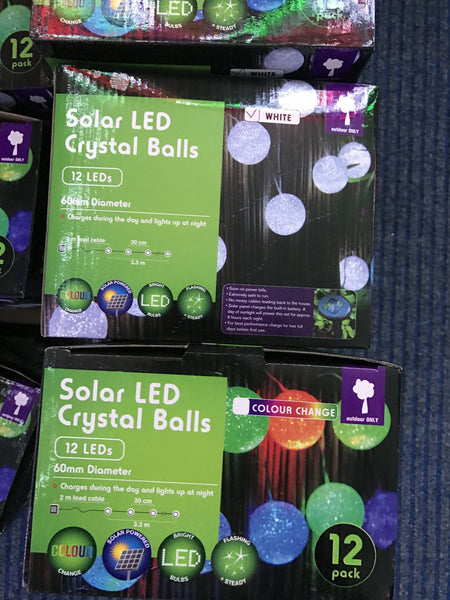 Solar LED Crystal Balls - Christmas World