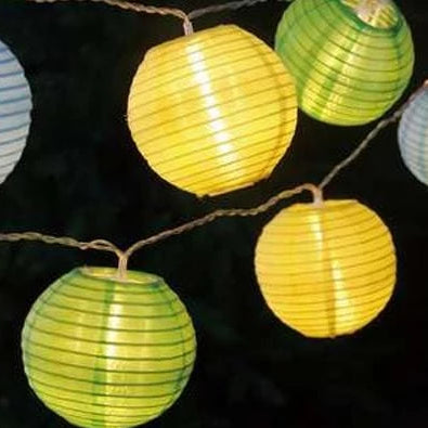 Solar LED Organza Lanterns 10pc