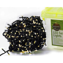 600 LED Fairy Lights - Warm White - Christmas World