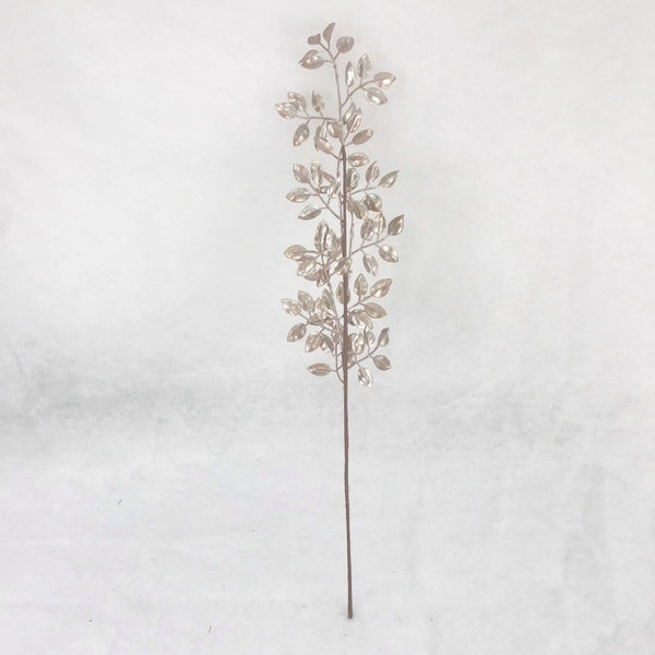 Metallic Leaf Branch - 65cm
