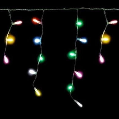 180 LED Icicle Lights 3.5M - Multi Colour