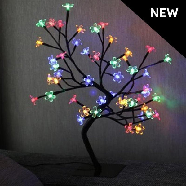 LED Bonsai Tree 45cm High - Multicolor