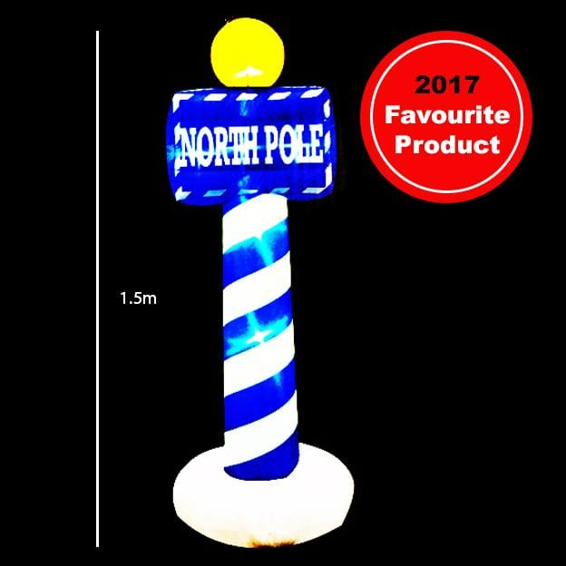 PRICE DROP: Airpower North Pole Sign 1.5 Meter - Christmas World