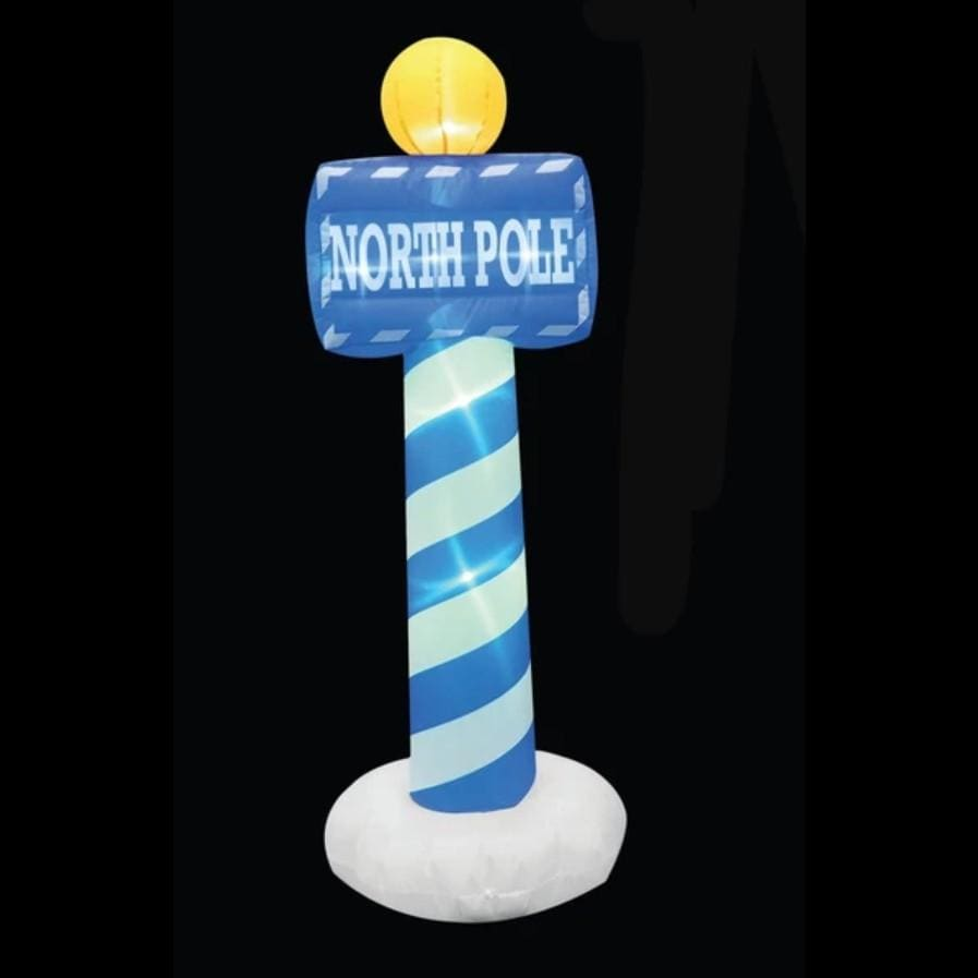 Inflatable North pole Sign with LED Lights - 150 CM