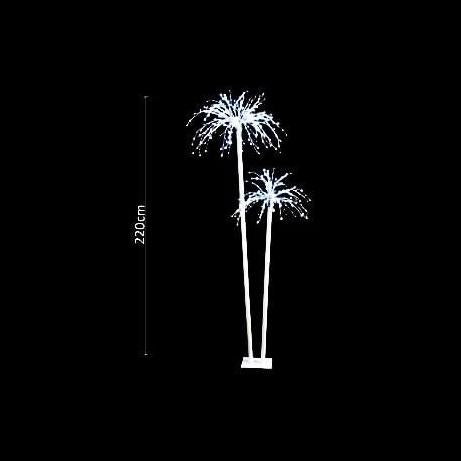 LED Double Fireworks Display Palm Tree 2.2m - Christmas World