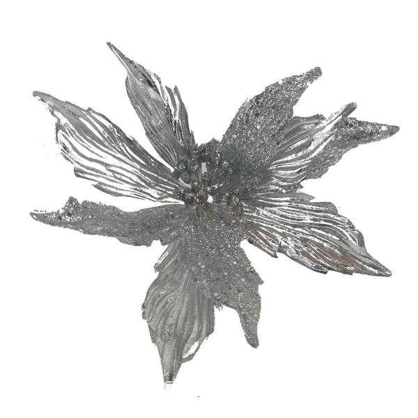 Single Metallic Poinsettia - 66cm