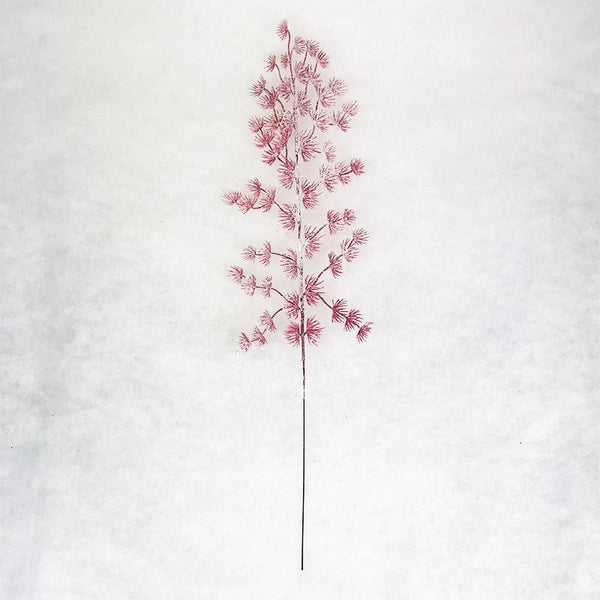 Red Forest Snowy Pine Leaves - 47cm