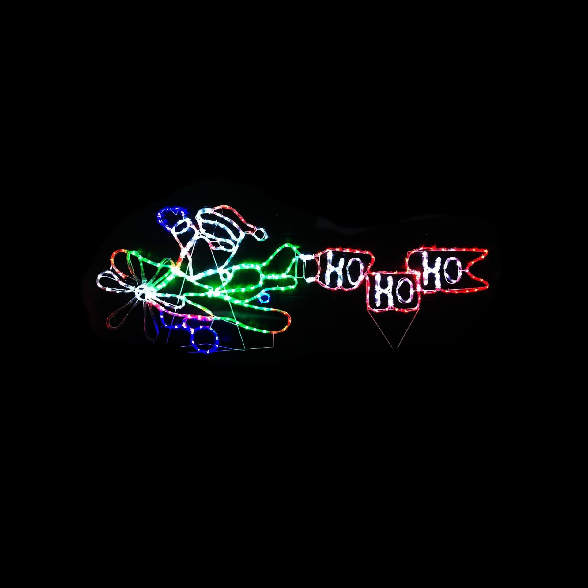 LED Ropelight Santa Airplane