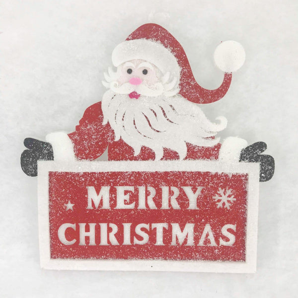 Hanging Santa Plaque Deco