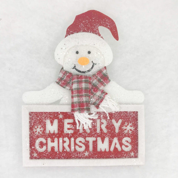 Hanging Snowman Plaque Deco