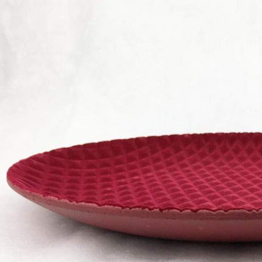 Flocked Red Plate