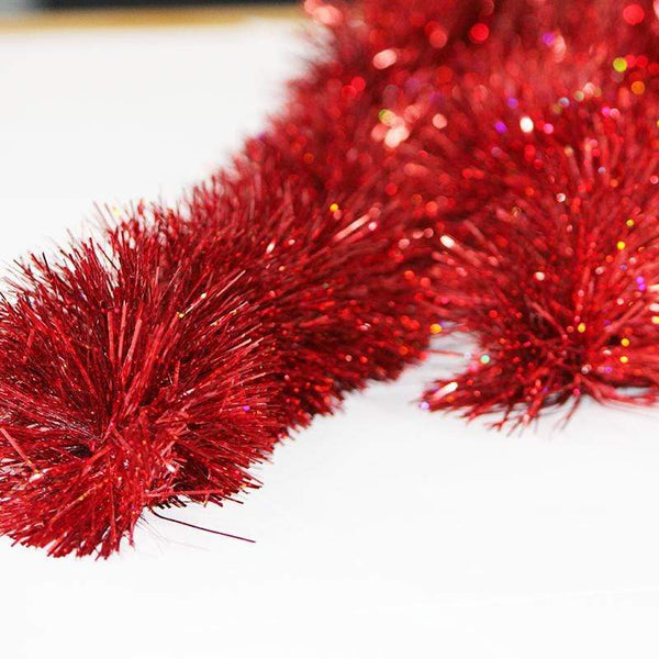 Holographic Red Tinsel - 2m