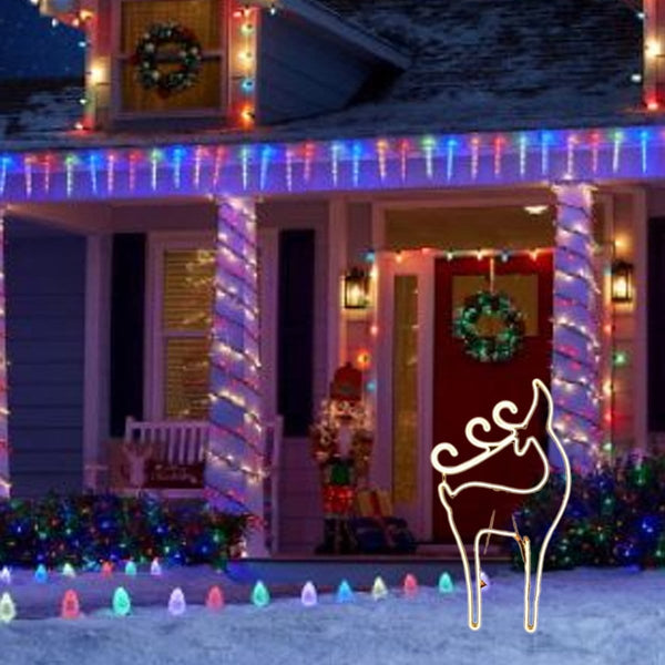 NEON LED FLEX STRIP REINDEER HEAD UP: 87cm