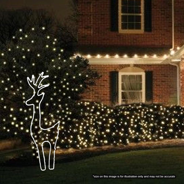 Neon LED Flex Strip - Cool White Standing Deer