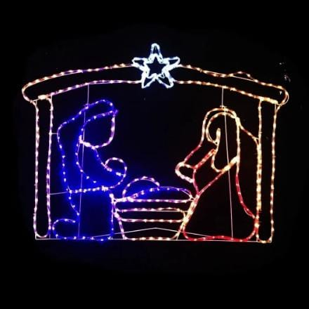 LED Ropelight Nativity