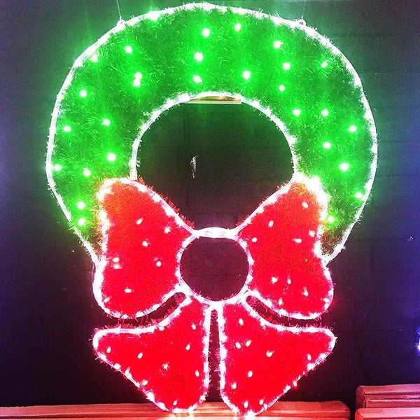 LED Ropelight Tinsel Wreath