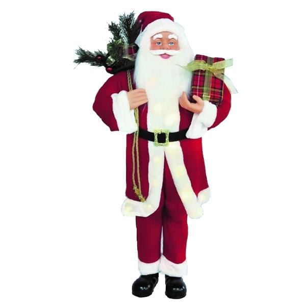 DELUXE SANTA 110cm STAND WITH LED LIGHTS