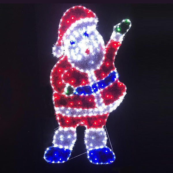 LED Ropelight Tinsel Waving Santa
