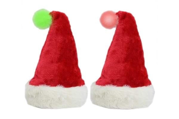 LIGHT UP SANTA POM POM