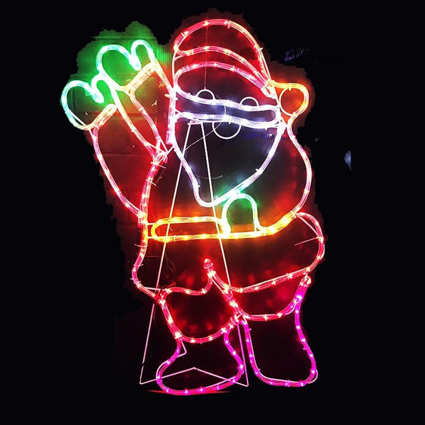LED Ropelight Waving Santa