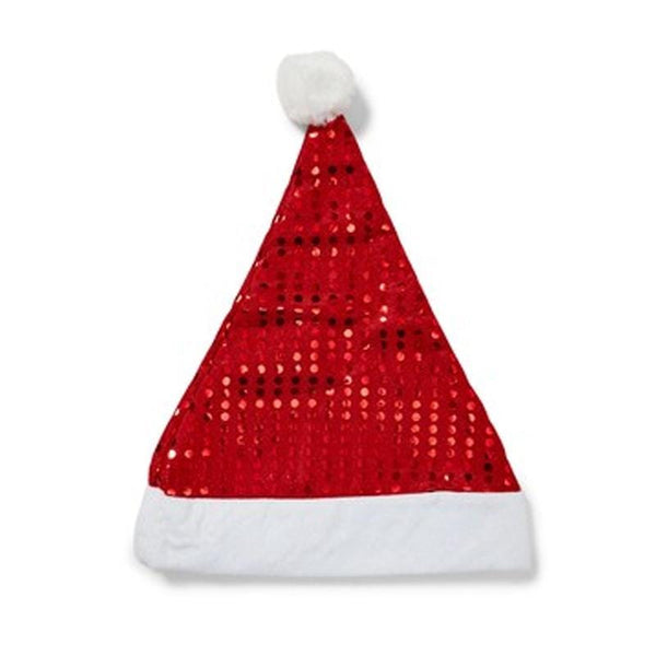 SEQUIN SANTA HAT ADULT