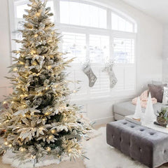 2.1m Pre-Lit Norway Spruce Christmas Tree