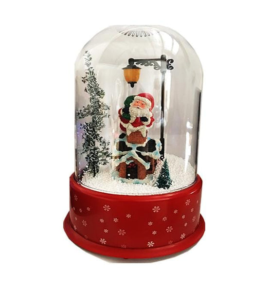 Musical Christmas Santa Snowing Effect Dome - Christmas World