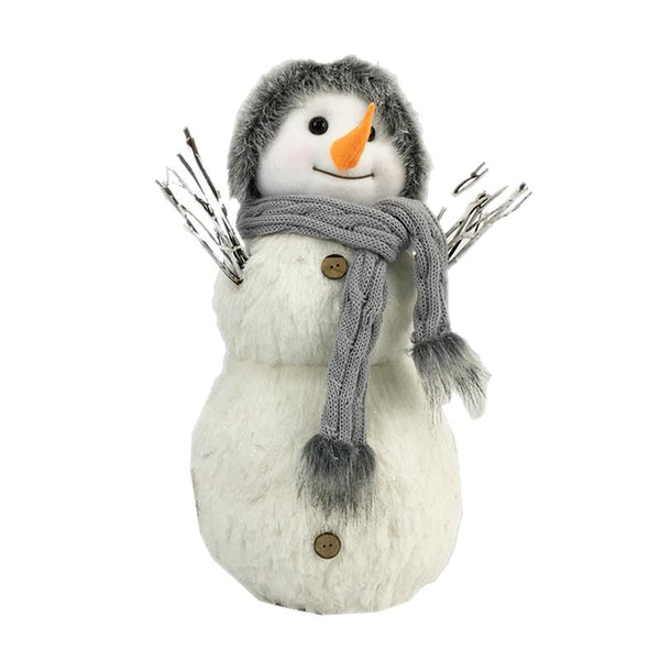 Vintage Snowman in Hat and Scarf - 40cm