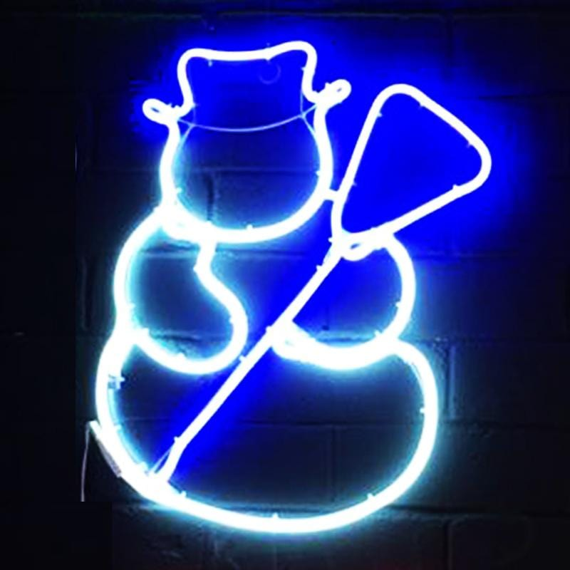 Neon LED Flex Strip Snowman