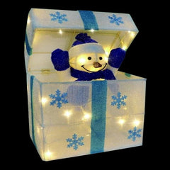 NEW ARRIVAL: LED TINSEL POP-UP SNOWMAN PRESENT