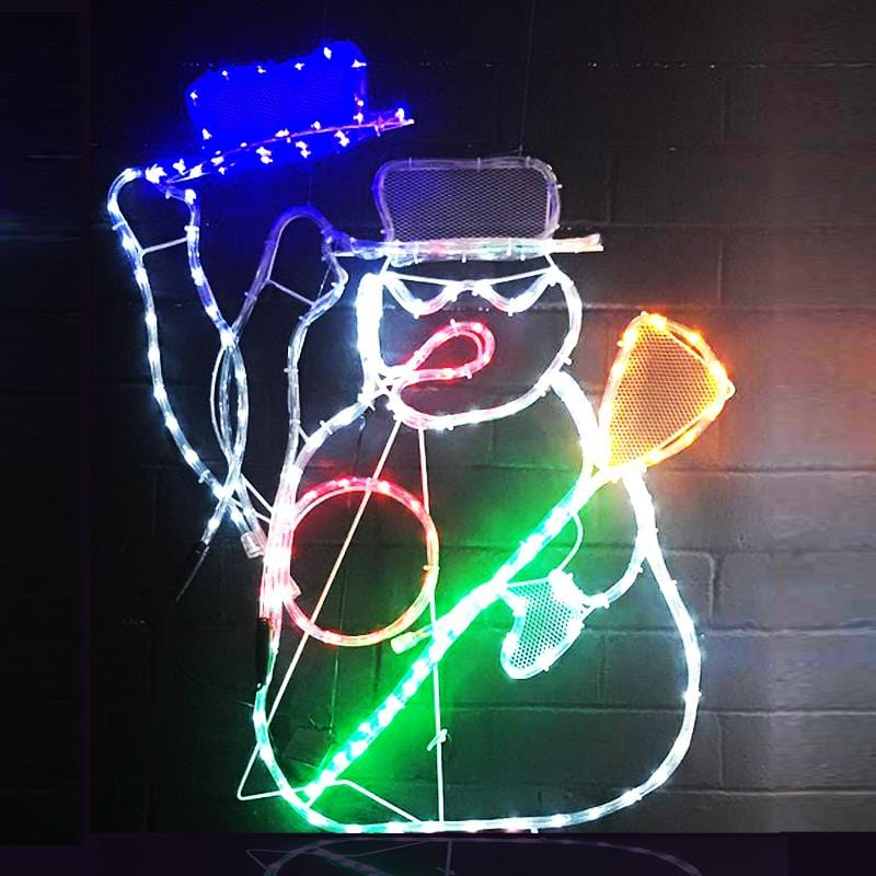 LED Ropelight Flashing Snowman