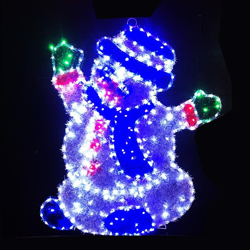 LED Ropelight Tinsel Snowman
