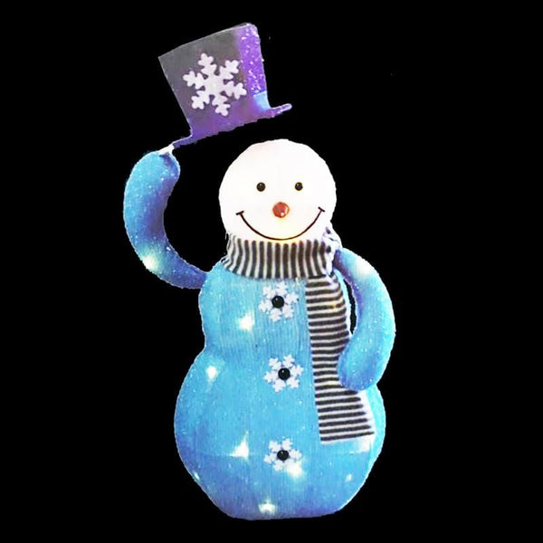 LED Tinsel Moving Snowman Hat
