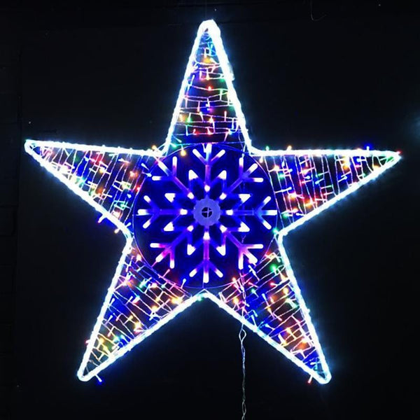 LED Ropelight Star with Snowflake