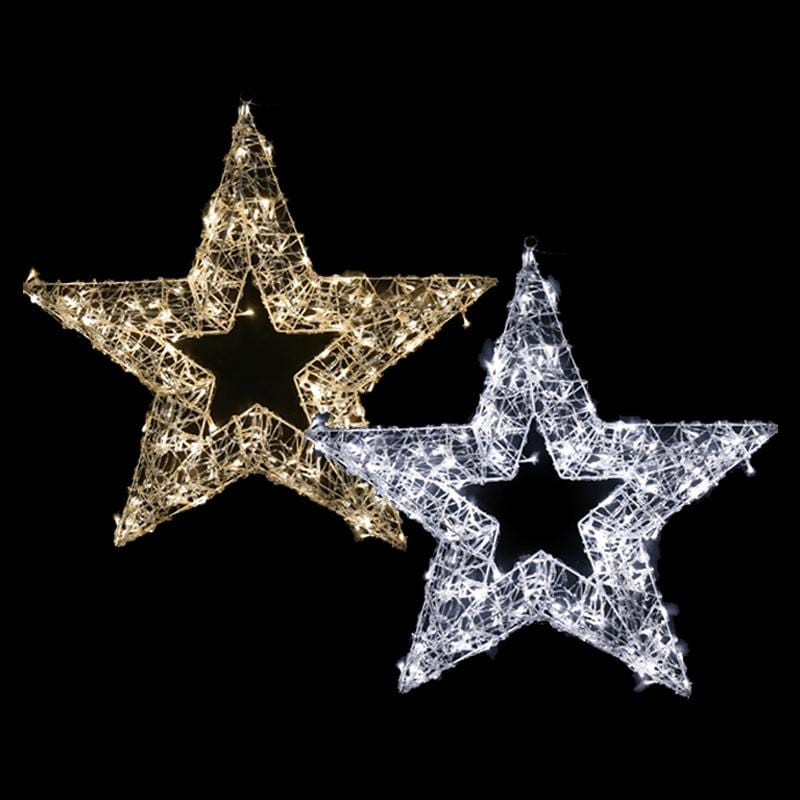 LED ACRYLIC JEWEL STAR DUAL CLOLOUR 80cm