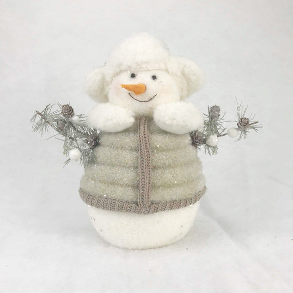 Glittering Snowman in Hat and Sweater