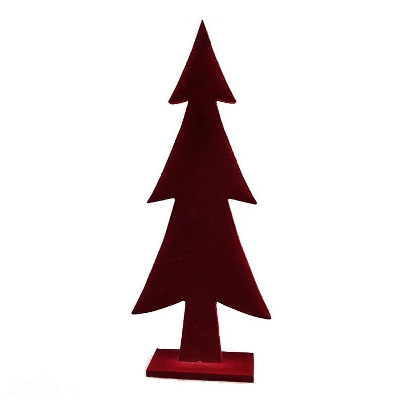 Large Flocked Tree - Red