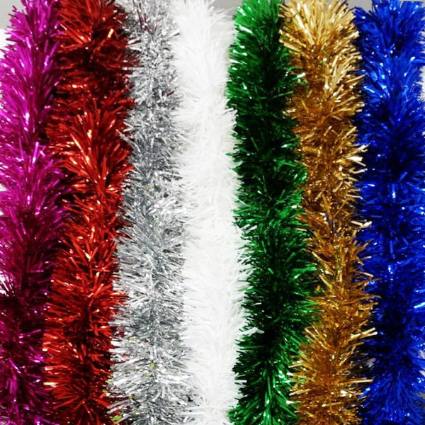 3 Meter Luxury Tinsels available in 7 Colors