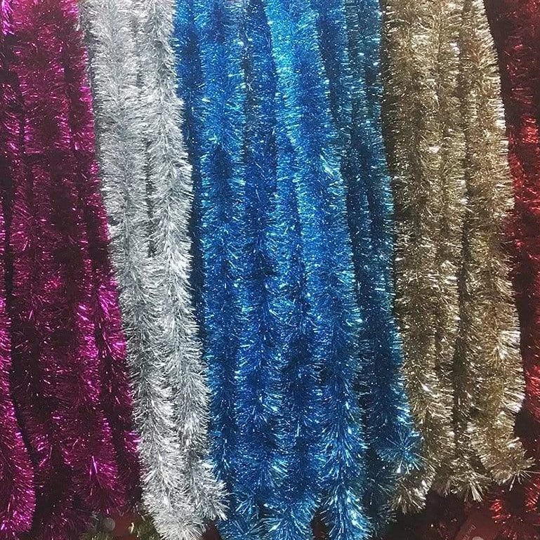 3M long Tinsels - 12cm Thickness - Available in 6 Colors - Christmas World