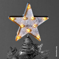 LED Metal Marquee Star Topper Glitter