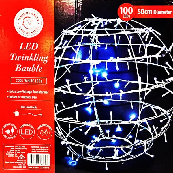 HOT SALE: LED Twinkling Bauble 50cm Diameter