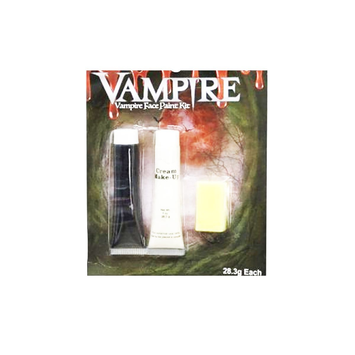 VAMPIRE BLACK & WHITE FACE PAINT KIT ASST