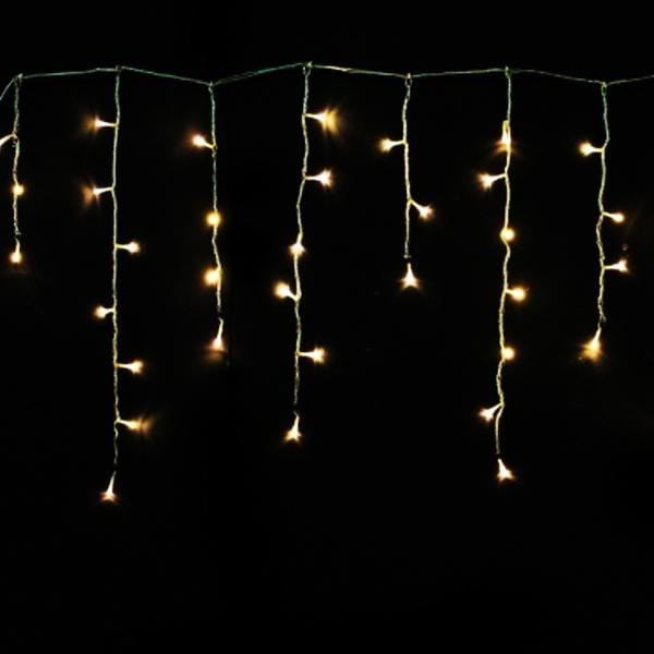 200 LED Icicle Lights 10M - Warm White - Christmas World