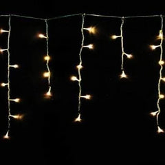 400 LED Icicle Lights 20M - Warm White