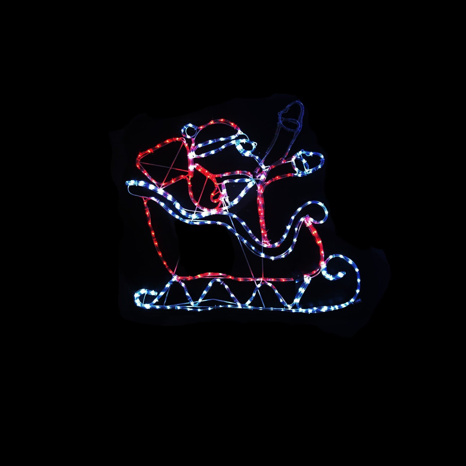 LED Ropelight Waving Santa in Sleigh