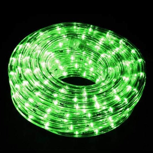 9M Connectable LED Rope Light   Green   Christmas World