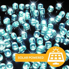 Solar LED Lights 100 - Cool White - 7 meters