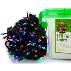 600 LED Fairy Lights - Multi Colour - Christmas World