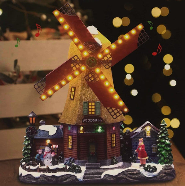 LED Christmas Windmill